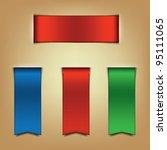 ribbon bookmarks | Shutterstock .eps vector #95111065