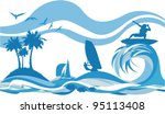water sports and recreation  ... | Shutterstock .eps vector #95113408