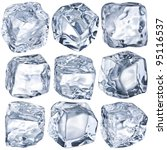 ice cubes on a white background.... | Shutterstock . vector #95116537