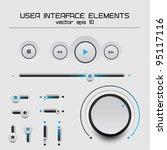 web user interface design... | Shutterstock .eps vector #95117116