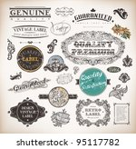 vector set  calligraphic design ... | Shutterstock .eps vector #95117782