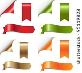 color ribbons set  isolated on... | Shutterstock . vector #95119828