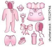 Set Of Rose Baby Girl...