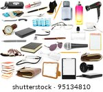 collection isolated objects on... | Shutterstock . vector #95134810