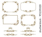 vector set of decorative... | Shutterstock .eps vector #95135320