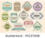 vector set vintage labels | Shutterstock .eps vector #95137648