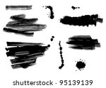 ink and brush strokes | Shutterstock .eps vector #95139139