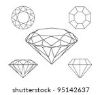 diamonds wireframe on white... | Shutterstock .eps vector #95142637