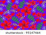 flower   Shutterstock .eps vector #95147464