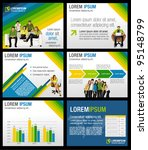 green  yellow and blue template ... | Shutterstock .eps vector #95148799