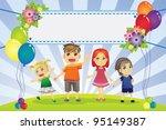 a vector illustration of fun... | Shutterstock .eps vector #95149387