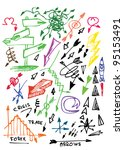 color arrows collection | Shutterstock .eps vector #95153491