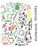 color arrows collection | Shutterstock .eps vector #95153491