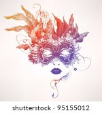 abstract woman face with... | Shutterstock .eps vector #95155012