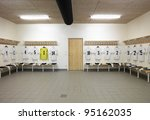 soccer teams dressing room with ... | Shutterstock . vector #95162035