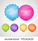 collection of bright web label... | Shutterstock .eps vector #95162620
