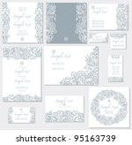 vector template for wedding... | Shutterstock .eps vector #95163739