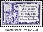 usa   circa 1952  a stamp... | Shutterstock . vector #95164963
