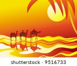 vector background with camels...