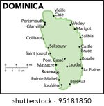 dominica country map | Shutterstock .eps vector #95181850
