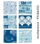 nautical vector seamless... | Shutterstock .eps vector #95186452