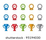 ribbon and trophy icons. | Shutterstock .eps vector #95194030