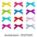 Ribbon Bows   Red  Pink  Blue ...