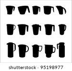 black jug on white background   Shutterstock .eps vector #95198977