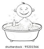 cartoon  contours  cheerful... | Shutterstock . vector #95201566