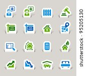 paper cut   real estate icons | Shutterstock .eps vector #95205130