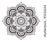 mandala. round ornament pattern | Shutterstock .eps vector #95216224