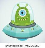 ufo. alien.   Shutterstock .eps vector #95220157