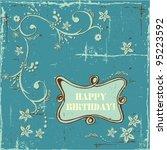 blue grunge background. shabby...   Shutterstock .eps vector #95223592