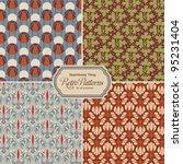 seamlessly tiling retro... | Shutterstock .eps vector #95231404