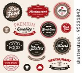 set of vintage retro restaurant ... | Shutterstock .eps vector #95231842