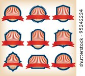 fourth of july ribbons  shields ... | Shutterstock .eps vector #95242234