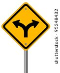 Fork In The Road Sign  Vector...
