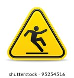 wet floor sign | Shutterstock .eps vector #95254516