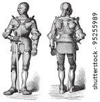 knight armour  cuirass   ... | Shutterstock .eps vector #95255989