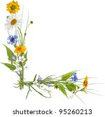 corner composition from summer... | Shutterstock . vector #95260213