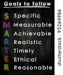 conceptual smarter goals... | Shutterstock . vector #95264986