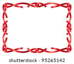 Red Ribbon Frame Isolated On...