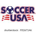 soccer usa vector lettering | Shutterstock .eps vector #95267146
