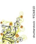 floral background | Shutterstock .eps vector #9526810