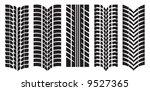 vector image of car tyre prints | Shutterstock .eps vector #9527365