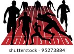sprint silhouette | Shutterstock .eps vector #95273884