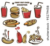 funny american fast food ... | Shutterstock .eps vector #95279458