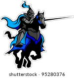 Knight With Armor Riding A...