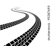 vector winding trace of the... | Shutterstock .eps vector #95287693