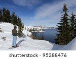 Snow Shoeing At Crater Lake...